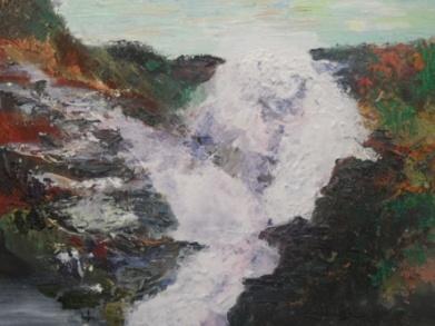Flam - Oil, acrylic, carborundum on canvas