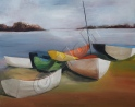 Dinghies - Oil on canvas