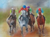 The Races 1 - Oil on canvas