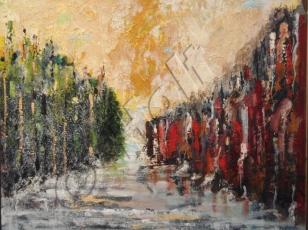 Image 10 - 760 x 610 mm oil, acrylic,carborundum on canvas