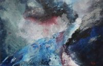 Image 11-500 x 600 mm oil,resin ,carborundum on canvas