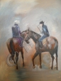 On the gallops 1 – Oil on canvas