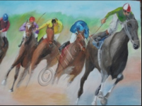 The Races 2 - Oil on canvas